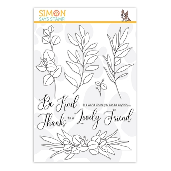 RESERVE Simon Says Clear Stamps BE KIND sss202099 Hey Bestie