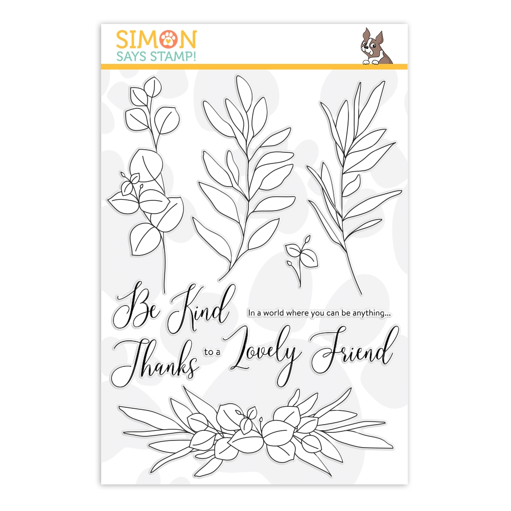 Simon Says Clear Stamps BE KIND sss202099 Hey Bestie zoom image