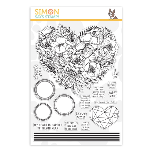 Simon Says Clear Stamps BOTANICAL HEART sss202083 Hey Bestie Preview Image