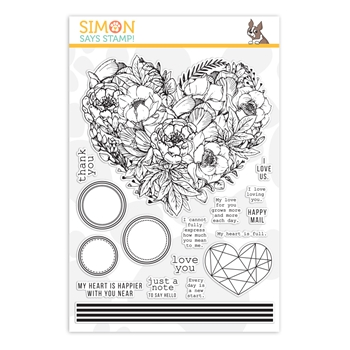 Simon Says Clear Stamps BOTANICAL HEART sss202083 Hey Bestie