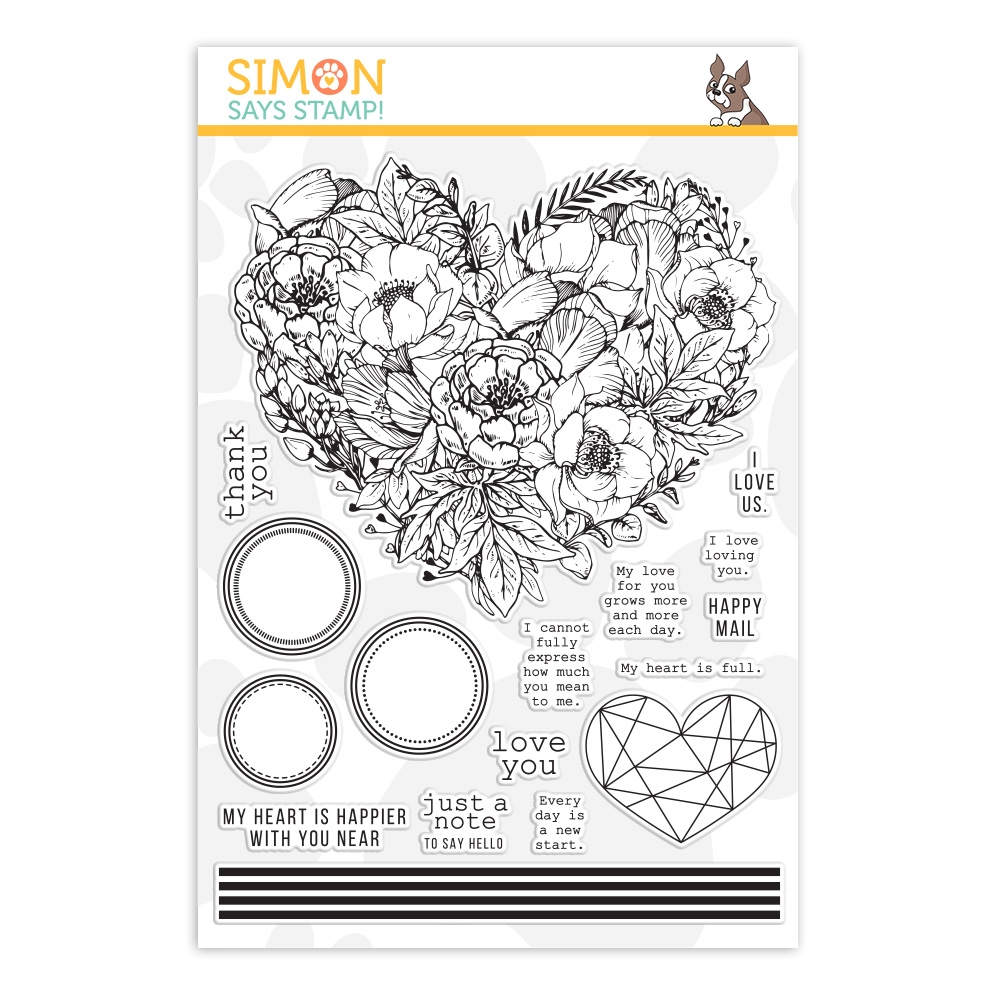Simon Says Clear Stamps BOTANICAL HEART sss202083 Hey Bestie zoom image