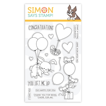 Simon Says Clear Stamps LIFTING HEARTS sss102102 Hey Bestie