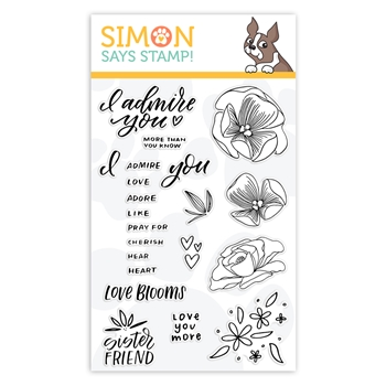 Simon Says Clear Stamps LOVE FRIENDSHIP sss102096L Hey Bestie