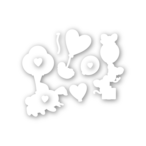 Simon Says Stamp LIFTING HEARTS Wafer Dies sssd112111c Hey Bestie Preview Image