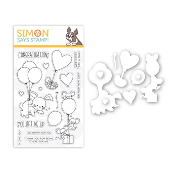 Simon Says Stamps And Dies LIFTING HEARTS set369lf Hey Bestie