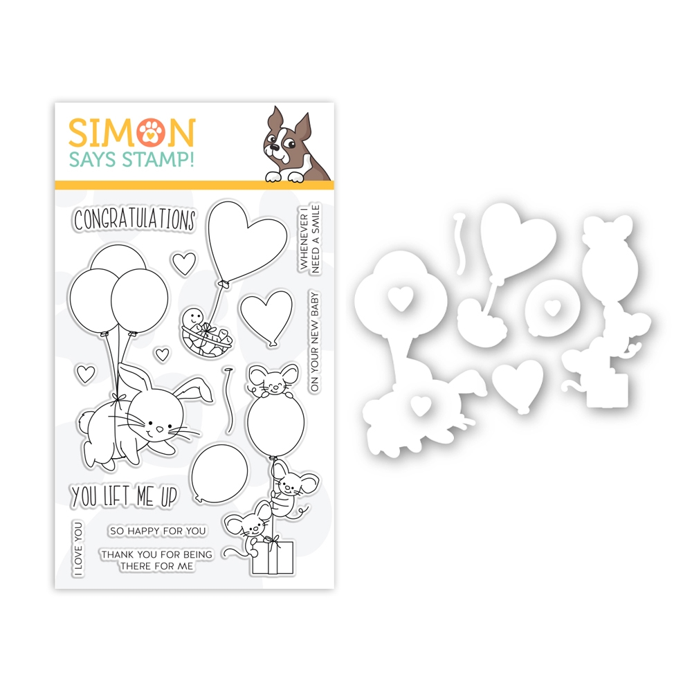 Simon Says Stamps And Dies LIFTING HEARTS set369lf Hey Bestie zoom image