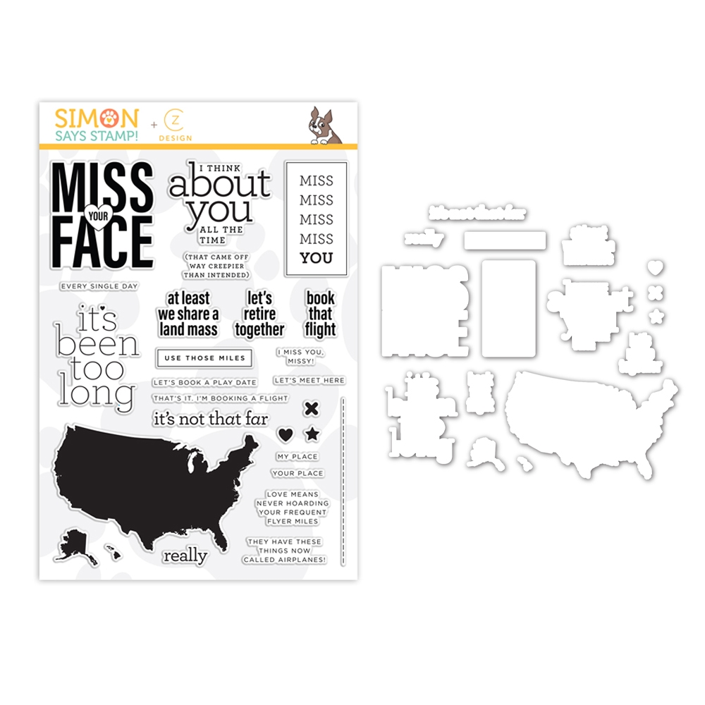 Simon Says Stamps And Dies MISS YOU MISSY set371mym Hey Bestie zoom image