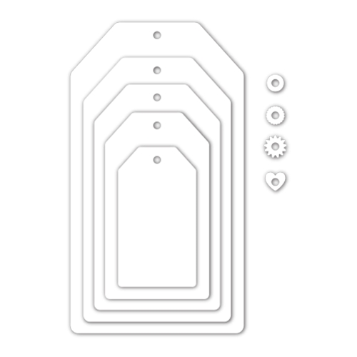 CZ Design Wafer Dies NESTED TAGS czd81 Hey Bestie Preview Image