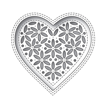 Simon Says Stamp SHIMMER HEART Wafer Die s674 Hey Bestie
