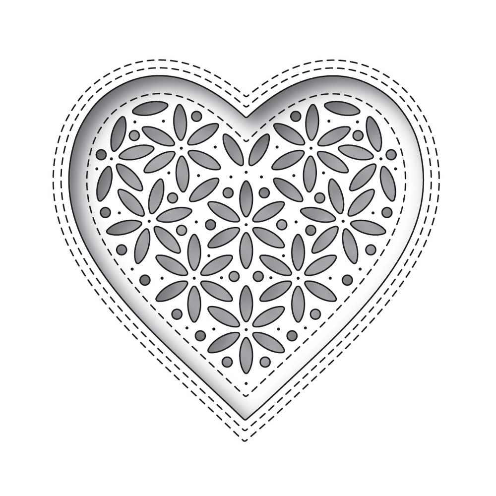 Simon Says Stamp SHIMMER HEART Wafer Die s674 Hey Bestie zoom image