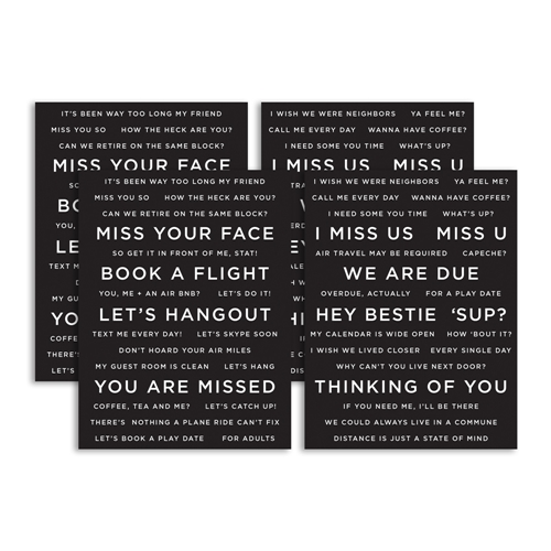 CZ Designs SENTIMENT STRIPS REVERSE MISS YOU czg002 Hey Bestie Preview Image