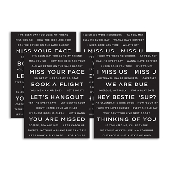 CZ Designs SENTIMENT STRIPS REVERSE MISS YOU czg002 Hey Bestie
