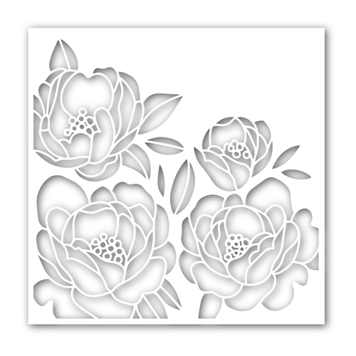 Simon Says Stamp Stencil PEONY BOUQUET ssst121467 Hey Bestie Preview Image