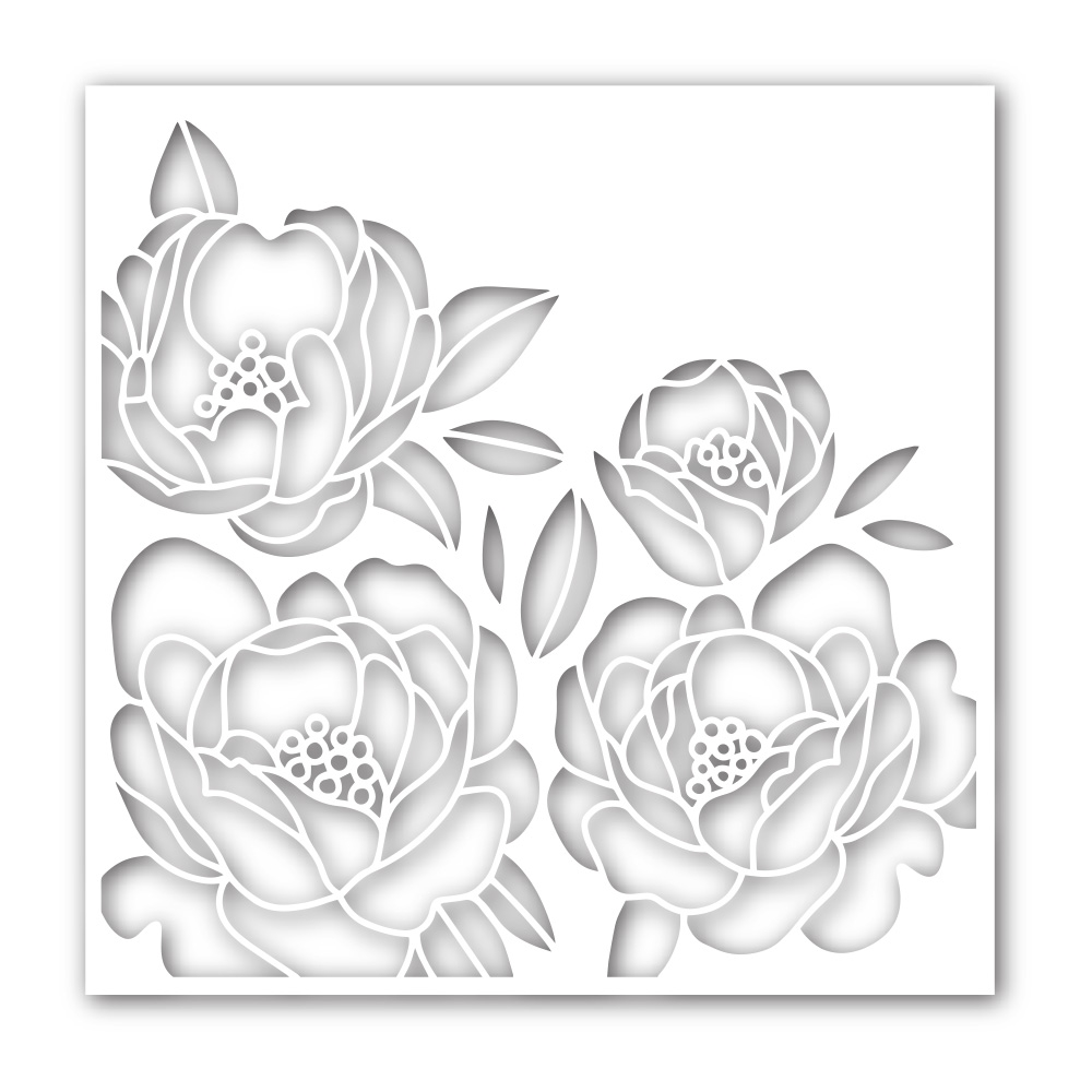 Simon Says Stamp Stencil PEONY BOUQUET ssst121467 Hey Bestie zoom image