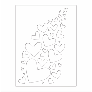 RESERVE Simon Says Stamp Stencil BURSTING HEARTS ssst121468 Hey Bestie