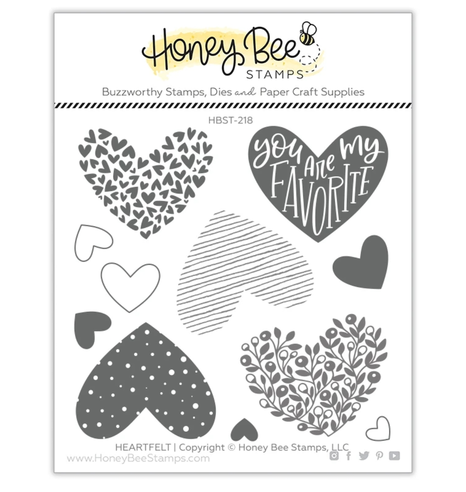 Honey Bee HEARTFELT Clear Stamp Set hbst-218 zoom image