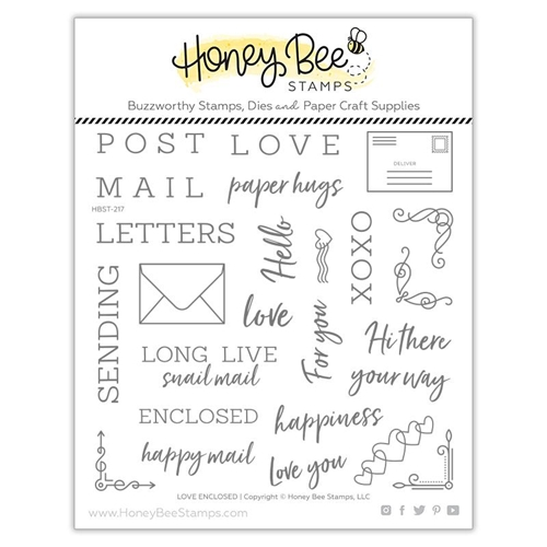 Honey Bee LOVE ENCLOSED Clear Stamp Set hbst-217 Preview Image