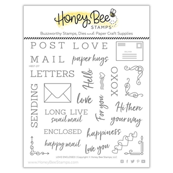 Honey Bee LOVE ENCLOSED Clear Stamp Set hbst-217