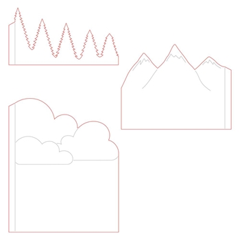 Honey Bee MOUNTAIN Z-FOLD A2 CARD Dies hbds-mzf