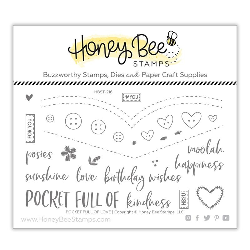 Honey Bee POCKET FULL OF LOVE Clear Stamp Set hbst-216 zoom image