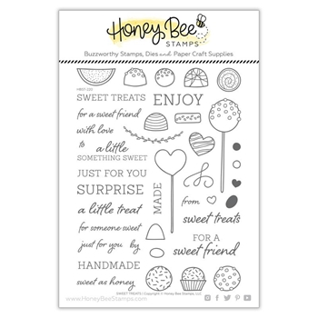 Honey Bee SWEET TREATS Clear Stamp Set hbst-220
