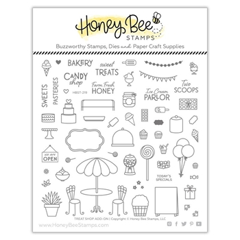 Honey Bee TREAT SHOP ADD ON Clear Stamp Set hbst-219