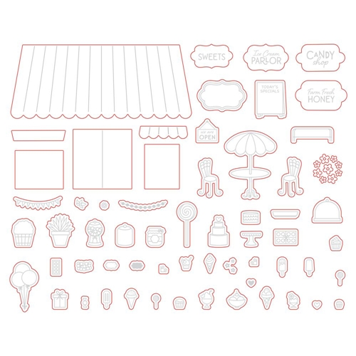 Honey Bee TREAT SHOP ADD ON Dies hbds-219 Preview Image