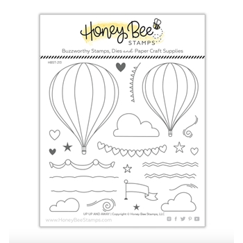 Honey Bee UP UP AND AWAY Clear Stamp Set hbst-213