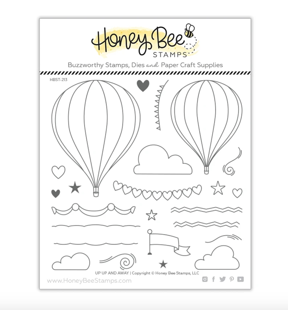 Honey Bee UP UP AND AWAY Clear Stamp Set hbst-213 zoom image