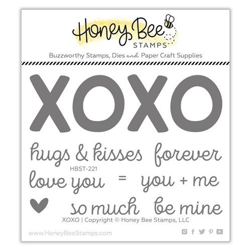 Honey Bee XOXO Clear Stamp Set hbst-221 Preview Image
