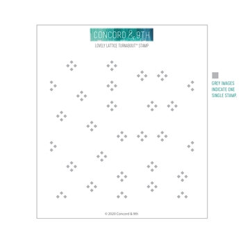 Concord & 9th LOVELY LATTICE TURNABOUT Clear Stamp 10769