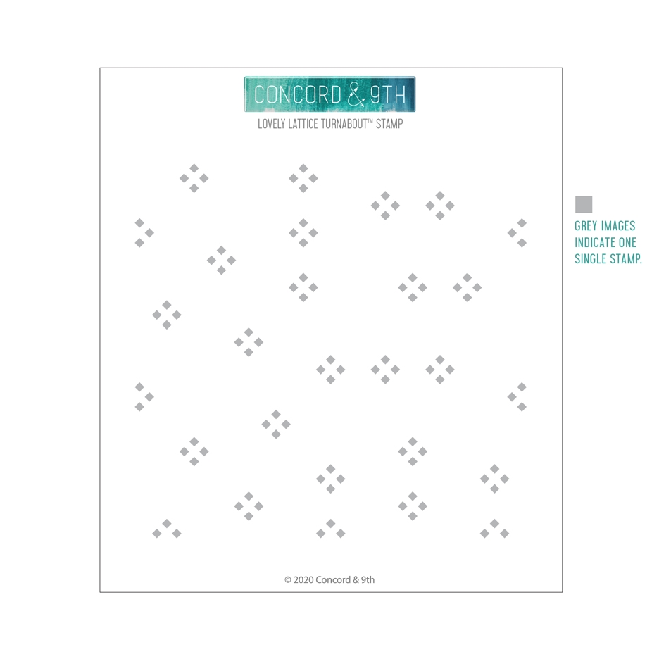 Concord & 9th LOVELY LATTICE TURNABOUT Clear Stamp 10769 zoom image