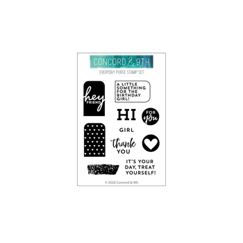 Concord & 9th EVERYDAY PURSE Clear Stamp Set 10764