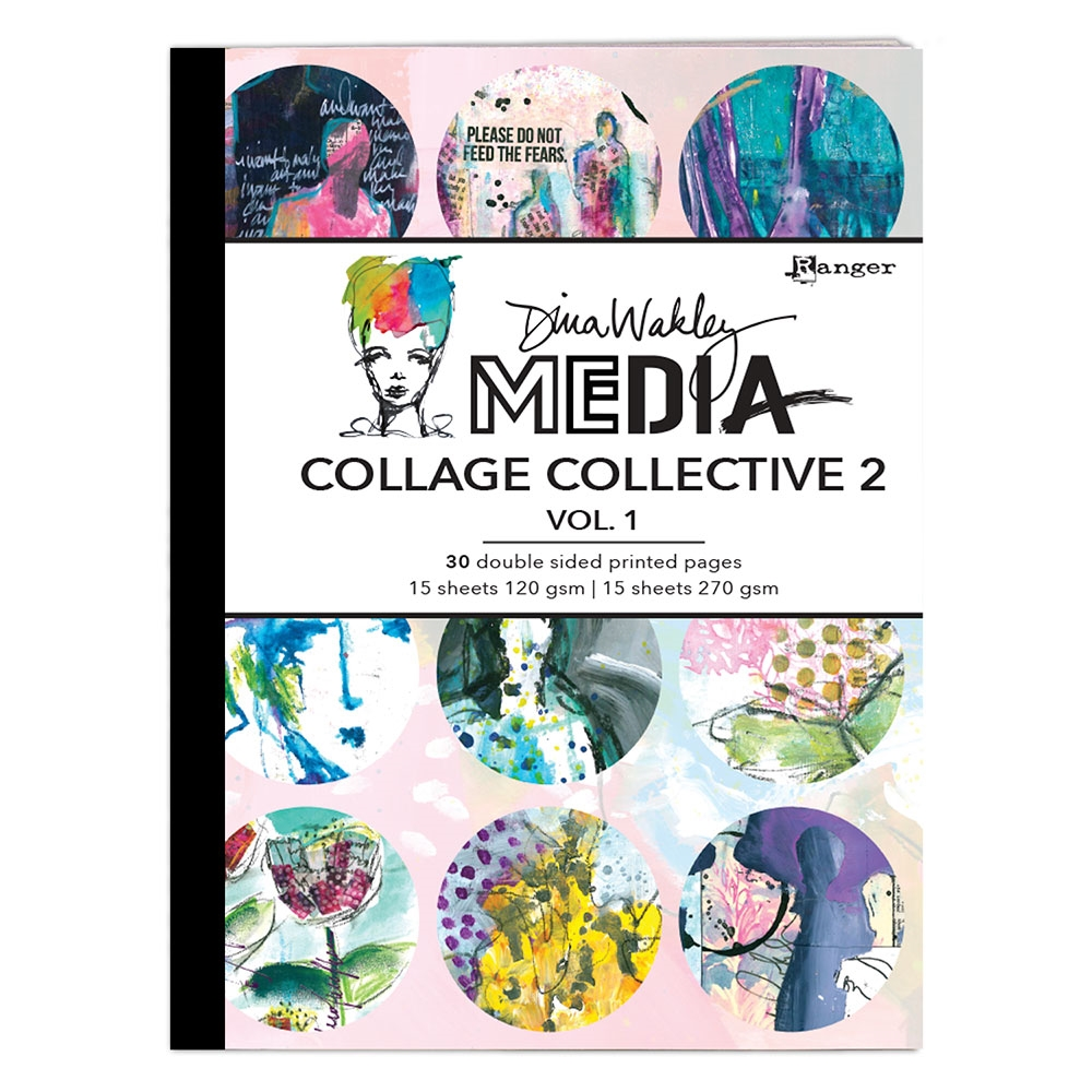 Ranger Dina Wakley Media COLLAGE COLLECTIVE 2 Vol.1 Book mda71532 zoom image