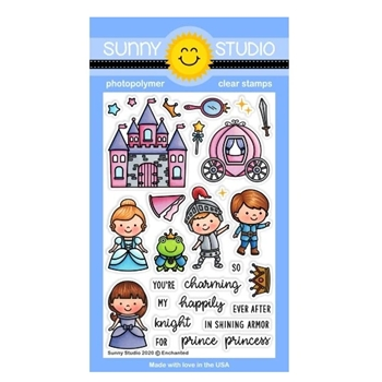 Sunny Studio ENCHANTED Clear Stamps SSCL-251