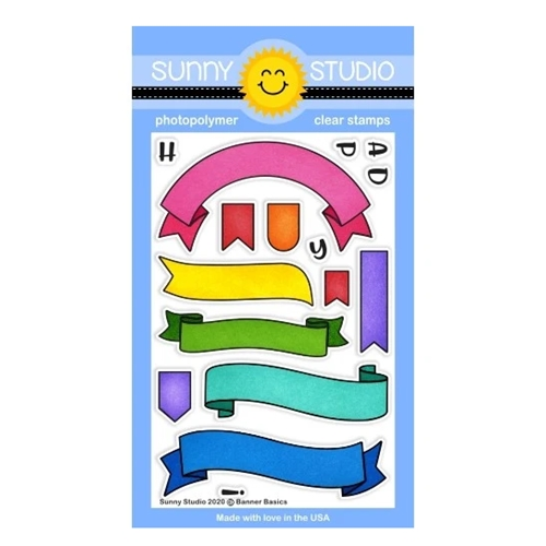 Sunny Studio BANNER BASICS Clear Stamps SSCL-257 Preview Image