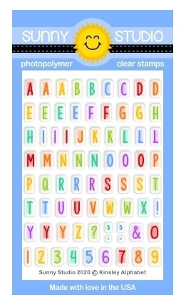 Sunny Studio KINSLEY ALPHABET Clear Stamps SSCL-259 Preview Image