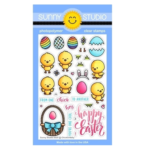 Sunny Studio CHICKIE BABY Clear Stamps SSCL-253 Preview Image