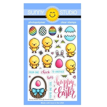Sunny Studio CHICKIE BABY Clear Stamps SSCL-253