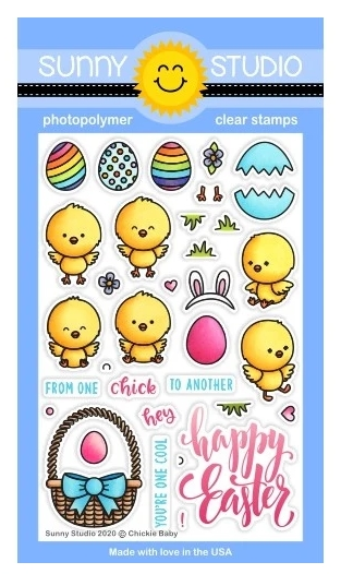 Sunny Studio CHICKIE BABY Clear Stamps SSCL-253 zoom image