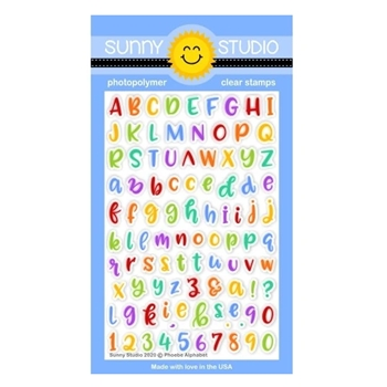 Sunny Studio PHOEBE ALPHABET Clear Stamps SSCL-258