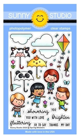 Sunny Studio SPRING SHOWERS Clear Stamps SSCL-252 zoom image