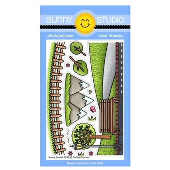 Sunny Studio SPRING SCENES Clear Stamps SSCL-254