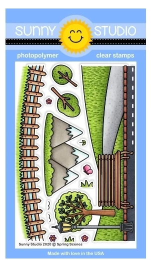 Sunny Studio SPRING SCENES Clear Stamps SSCL-254 zoom image