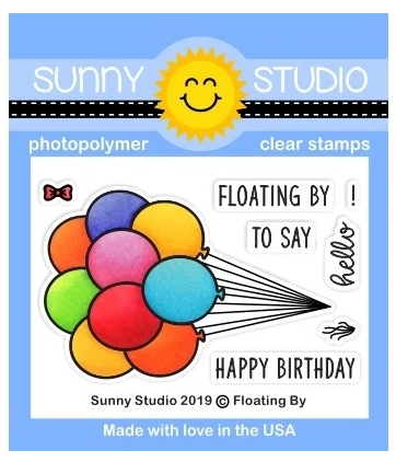 Sunny Studio FLOATING BY Clear Stamps SSCL-235 Preview Image
