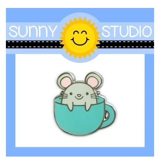 Sunny Studio MOUSE IN MUG Enamel Pin SSPIN-002