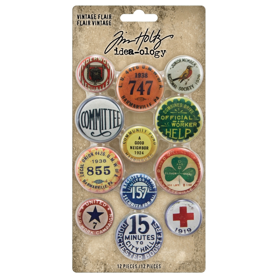 Tim Holtz Idea-ology VINTAGE FLAIR Embellishments th94027 zoom image