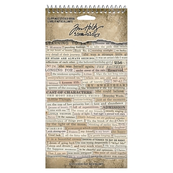 Tim Holtz Idea-ology CLIPPINGS Sticker Book th94030