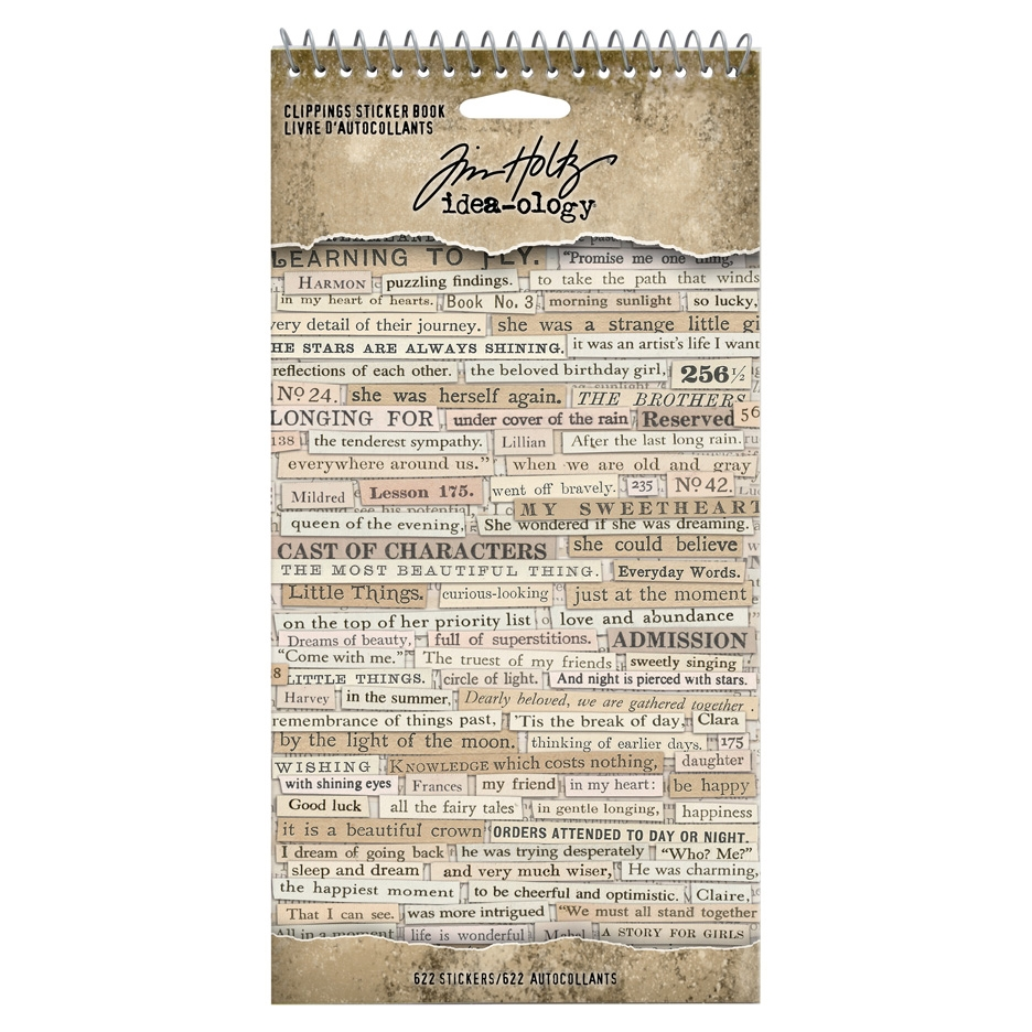 Tim Holtz Idea-ology CLIPPINGS Sticker Book th94030 zoom image