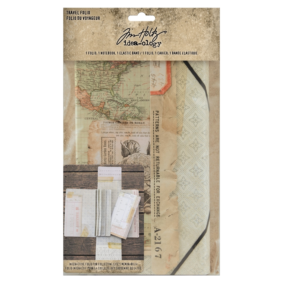 Tim Holtz Idea-ology TRAVEL FOLIO th94032 zoom image